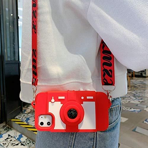 Funda para teléfono móvil con soporte para tarjeta y billetera con cámara retro 3D para iPhone12 11 pro Max XS MAX XR 7 8 plus 6 X cubierta trasera de silicona suave