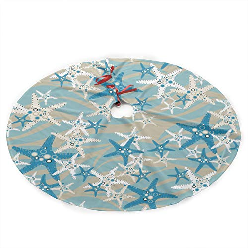 Christmas Tree Skirt Starfish 35.5' Tree Skirt for Xmas Decor Festive Holiday Decoration