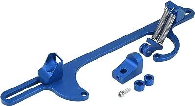 Qiilu Billet Aluminum Throttle Cable Carburetor Bracket for Holley 4150 & 4160 Series Carburetor(Blue)