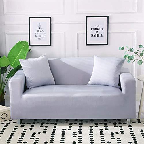 NEWRX Cubiertas de Cubierta de sofá elástica Blanca Cubiertas de sofá del strillo de algodón para la Sala de Estar Mascotas Sofá de la Esquina Sofá Protector del Protector