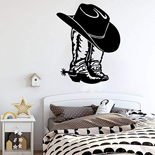 Sale Priced Decal Sticker : Mamas Dont Let Your Babies Grow Up to Be Cowboys Western Hat Boots Baby Newborn Son Boy Infant Nursery Bedroom Picture Art Size : 20 X 40 Inches - 22 Colors Available