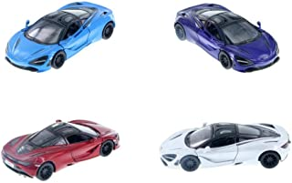 HCK Set of 4 2017 McLaren 720S - Pull Back Toy Sports Cars 1:32 Scale (Red/Purple/White/Blue)