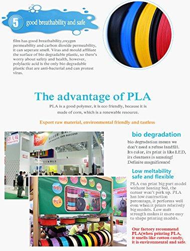 3D Printing Filamento 1.75mm PLA 14 Colores 3D Pluma Filamento ...