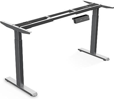 Wistopht Electric Standing Desk Frame | 2 Stage Dual Motor Electric Motorised Height Adjustable Standing Desk Base Home Office Workstation