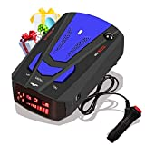 [2021 New Version]Laser Radar Detector for Cars,Voice Prompt Speed, Vehicle Speed Alarm System,LED Display,City/Highway Mode,Auto 360 Degree Detection for Cars (Blue)