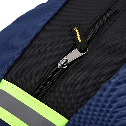 Multi-Pocket Herramientas Mochila Herramientas Mochila Oxford Paño para electricista (azul, 12)