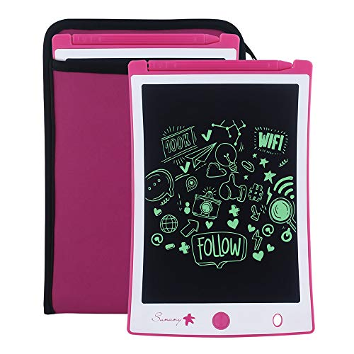 Sunany LCD Writing Tablet,8.5-Inch Drawing Board Doodle Board Reusable Doodle Pad Writing Pad,Electronic Drawing Pad and Writing Board is The Gift for Kids at Home and School (Pink)