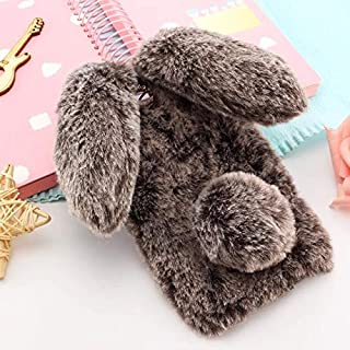 SIZOO - Fitted Cases - Warm Rabbit Ears fur fluffy Diomand phone Case For for Asus zenfone 3 laser Max deluxe zs570kl zc52...