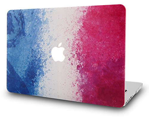 KEC MacBook Air 13 Inch Case Plastic Hard Shell Cover Protective A1369 / A1466 (French Flag)