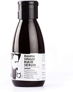 QRAA Keratin Infused Hair Serum for Dry and Damaged Hair, 100ml