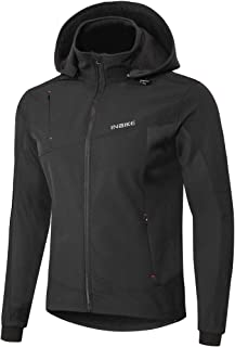 INBIKE Men's Detachable Hooded Fleece Multi-Functional Windproof Warm Jacket