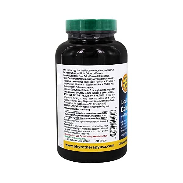 Health Shopping Phytotherapy Rx Calcium Liquid Softgel – 180 per Pack – 1 Each.