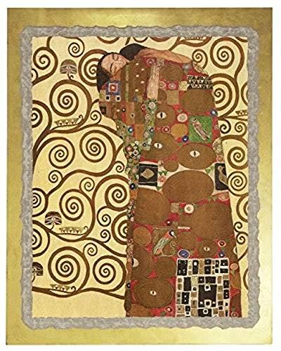 """Ars Martos - """"L'Abbraccio' Gustav Klimt. Riproduzione d'Arte in Affesco su Intonaco. Disponibile in varie misure e finiture."""