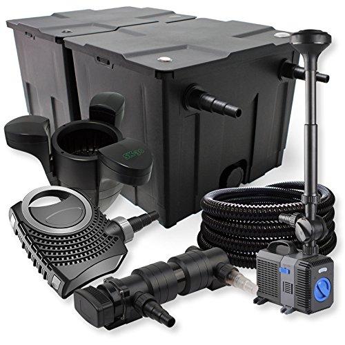 SunSun Kit de Filtration de Bassin 60000l 18W UV Stérilisateur NEO7000 Pompe Tuyau Fontaine Skimmer
