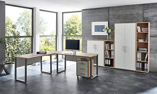 moebel-dich-auf.de Büromöbel Komplettset TABOR PRO 4 in diversen Farbvarianten (Sonoma Eiche/weiß matt)