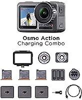 DJI Osmo Action Charging Combo – kamera cyfrowa z zestawem akcesoriów, 2 monitory, wodoszczelna do 11 m, zintegrowana...