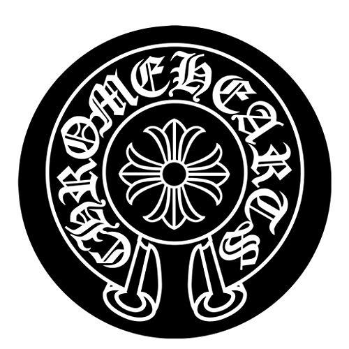 Tapis rond noir et blanc classique Tapis de montage de retardateur miroir photo Bureau Chaise pivotante tapis de protection antidérapant court (taille : 80cm)