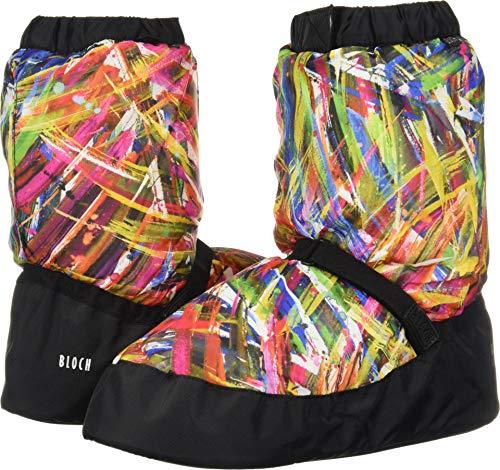 Bloch Scaldapiedi Printed Warm up Booties IM009P, Colore Par (XL)