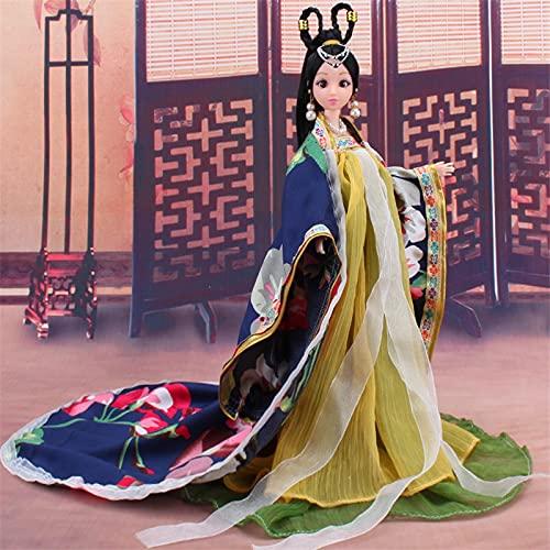bambola Tradizionale Cinese Bambole Ragazze Giocattolo Antico Collezionabile Bella Stile Vintage Principessa Etnica Bambola con Vestito Regali