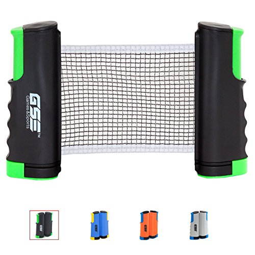 New GSE Games & Sports Expert Anywhere Retractable Table Tennis Net and Post. Adjustable Replacement...