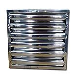 Quickware Filtro para Campana de Cocina Industrial   de Lama Ferrítico   Medidas (490x490x48mm)   Flitro de Lamas en Acero Inoxidable AISI430   para Hostelería   Colocación Simple y Sencilla