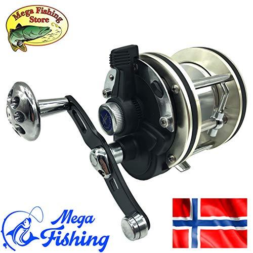 MEGA Fishing Norwegen Ultra Vollmetall Multirolle 8000er - Meeres Trolling Rolle/Angelrolle/Meeresrolle