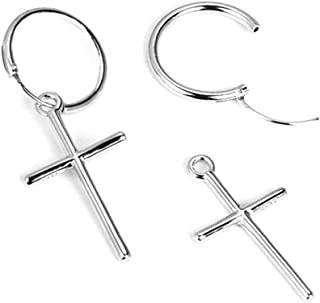 Chic Cross Single Earring Stud Korean Version Casual Jewelry for Women and Girls Hypoallergenic