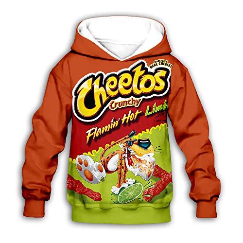 PLstar Cosmos Kinder Cheetos Hoodie Neuheit Pullover Hoodies Jacke für Jungen und Mädchen - - X-Large