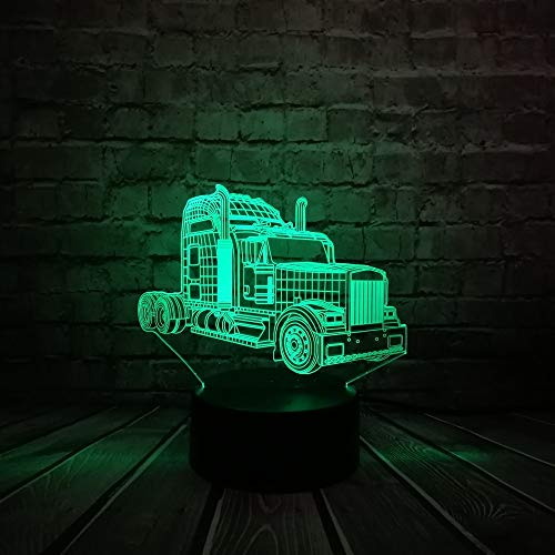 Suhang 3D Illusion 7 Color Change LED kroonluchter tafellamp Mood Light Children's Day Gift Usb Touch 7 Color