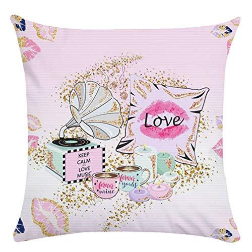 Fundas de Cojines Joyas rosas Funda de Almohada Cuadrado Terciopelo Suave con Cremallera Invisible para Sofá Cama Coche Dormitorio Decor para Hogar Throw Pillow Case Pillowcase+core,50x50cm R6390