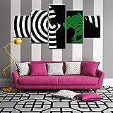 N/L Leinwand 5 Stück Wandkunst drucken Leinwand Malerei für Wohnkultur 5 Panel Leinwand Bilder gestreckt und gerahmt Kunstwerk Wandbild 150X80Cm Marilyn Manson