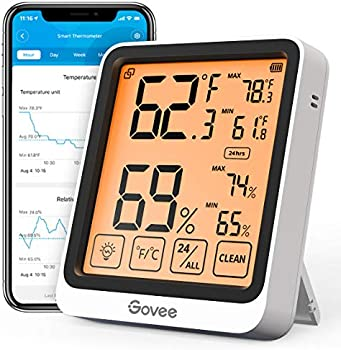Govee Indoor Hygrometer Thermometer with 2 Year Data Storage