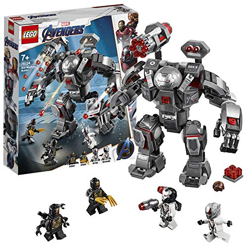 Questo set di gioco con super eroi include 4 minifigure dell'Universo Marvel: War Machine, Ant-Man e 2 Outrider Il mech War Machine Buster è dotato di cabina per minifigure apribile, shooter a fuoco rapido a 6 colpi, 2 cannoni spara-bottoncini stacca...