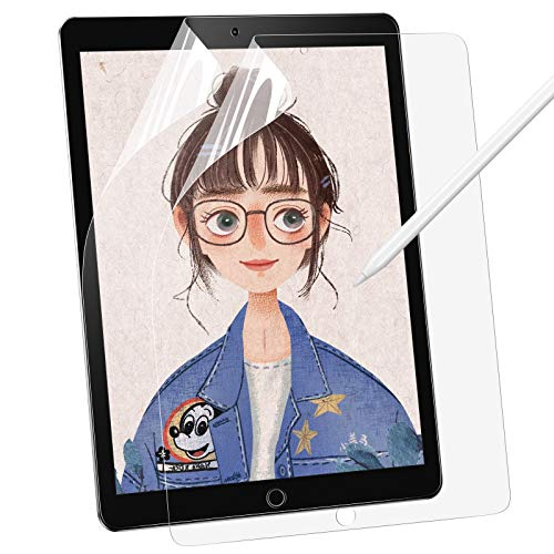 BANNIO [2 Stück] Schutzfolie für iPad 2018/iPad 2017(iPad 6./5.Generation),Paper-Feel Matte PET Bildschirmschutzfolie für iPad 9,7 Zoll(2018/2017)[Schreiben/Zeichnen wie auf Papier],Nicht Panzerglas