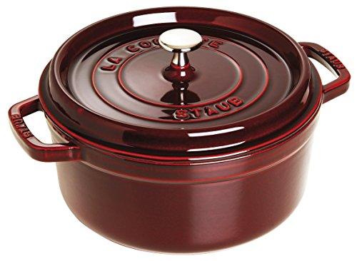 Staub 5 ½-Qt. Round Dutch Oven Color: Grenadine