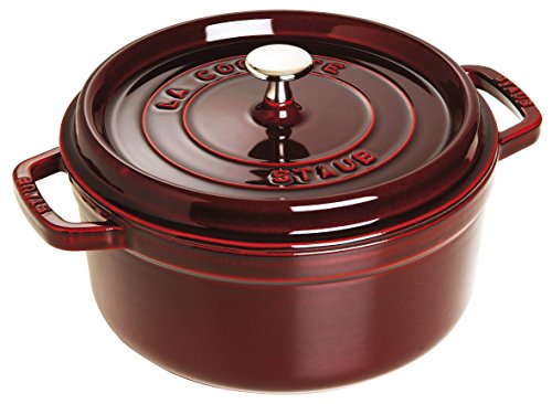 Staub 5 1/2-Qt. Round Dutch Oven Color: Grenadine