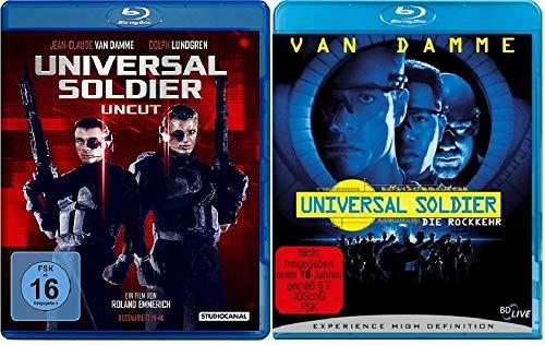 Universal Soldier + Universal Soldier - Die Rückkehr - Uncut - Teil 1+2 [Blu-ray Set]
