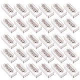UPKOCH Macarons Caja para 5 macarrones tipo cajón Macaron Cajas de galletas Pastel Postre Fiesta Caja de embalaje de regalo con ventana transparente 30 piezas