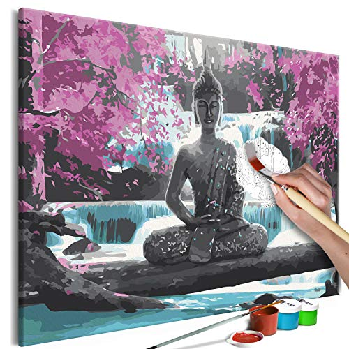 murando Pintura por Números Cuadros de Colorear por Números Kit para Pintar en Lienzo con Marco DIY Bricolaje Adultos Niños Decoracion de Pared Regalos - Buddha Zen 60x40 cm n-A-0722-d-a