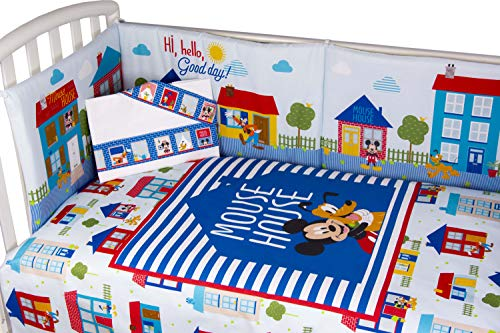 Disney Mickey Mouse Quilt with Bumper and Matching Sheet (Blue)