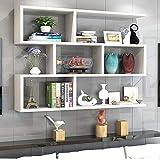 XJRHB Massivholz Wand-Schrank Schließfach Trennwand Schlafzimmer kreative Bücherregal Bücherregal frei Punsch (Color : White)