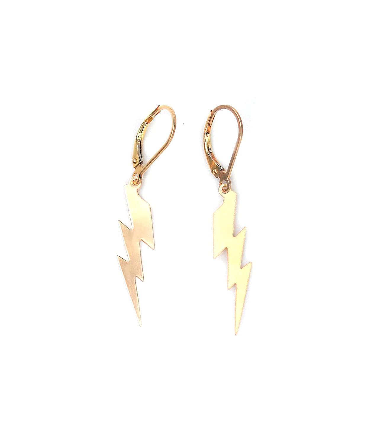 14K Gold Filled Dangle lightning sale in Handcrafted Spring new work one after another earrings bolt -