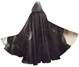 SLHFPX Beautiful Black Pug Dogs Men Tunic Hooded Robe Cloak Knight Fancy Cool Cosplay Costume