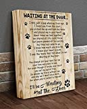 Waiting at the door dog poem for dog love canvas 8x10 inches