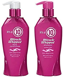 It's a 10 Miracle Whipped Shampoo and Conditioner