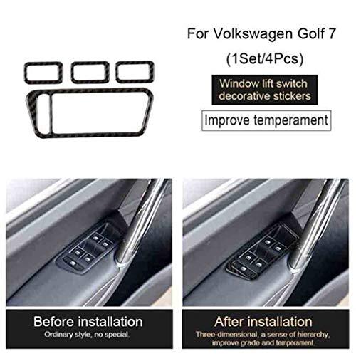 LEVEL GREATErsatz für Golf 7 MK7 2013-2017 Türaufkleber Türfenster Fenster Glasaufzug Regulator Knopf-Knopf dekorativen Aufkleber