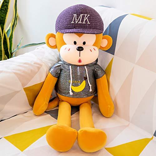Pipi Mono muñeca de Peluche de Juguete Lindo Brazo Largo Colgante Mono Almohada para Dormir muñeca 100 cm 1,5 kg B