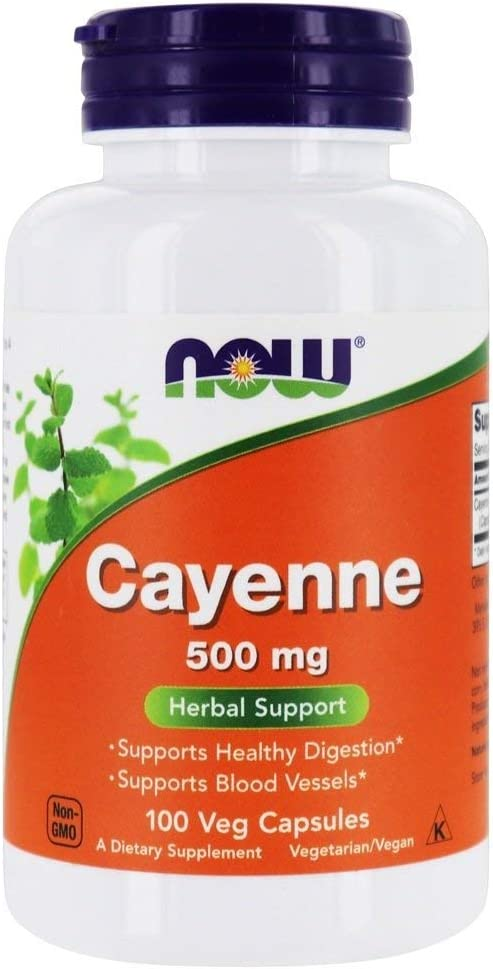 Limited time Max 45% OFF trial price Now Foods Cayenne 100 500 caps Multi-Pack mg