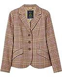 Joules Chaqueta de Tweed de Pecho Simple Pink Tweed UK14 EU42 US10