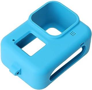 GoPro Hero 8 Silicone Protective Case + Lanyard Black -Blue
